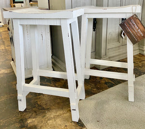 White Barstools (pair of 2)