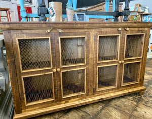 Carson Light Honey Farmhouse Cabinet