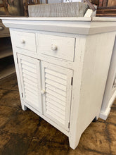 Load image into Gallery viewer, Kenzie Distressed White Accent Cabinet