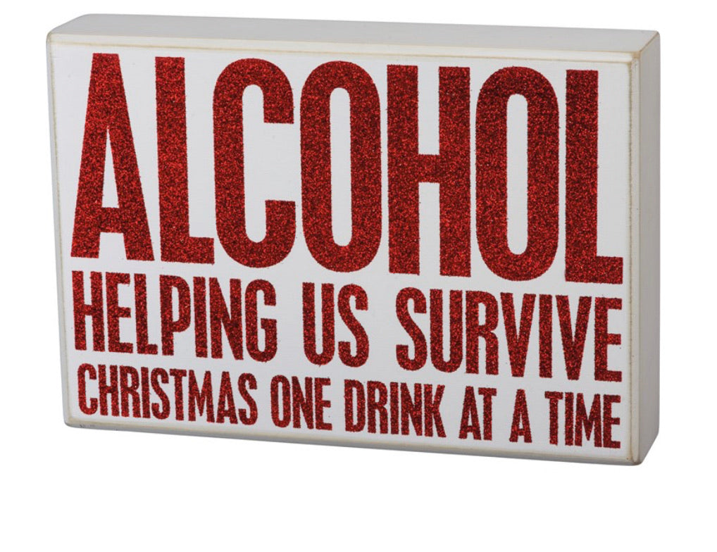 Surviving Christmas Sign