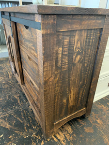 Baumann Tobacco Brown Barn Door Cabinet