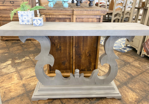 Victorian Gray Accent Table