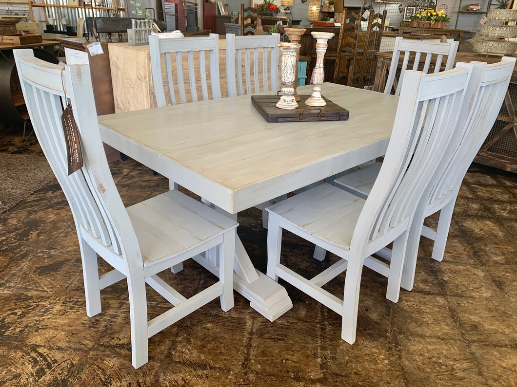 Gray 7 piece Dining Table Set