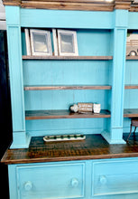 Load image into Gallery viewer, Maddox Turquoise 2 Piece Hutch