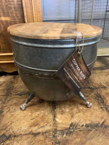 Industrial Drum End Table