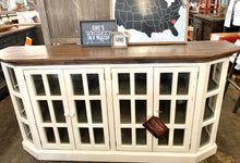 Load image into Gallery viewer, Tanner Large Distressed White Cabinet