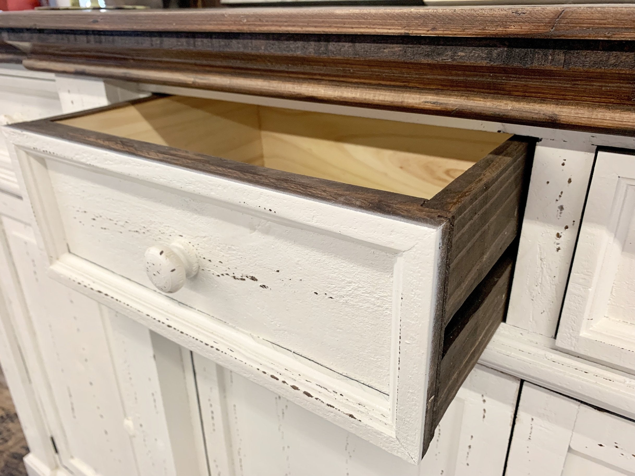 Parklin Distressed White Buffet