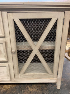 Logan Barn Gray Farmhouse Cabinet