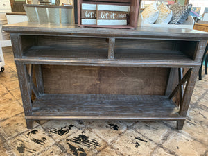 Jacquelyn Weathered Console Table