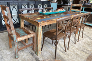 Claire Reclaimed 9 piece Dining Table Set