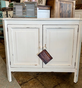 Samantha White Accent Cabinet
