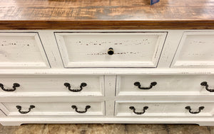 Rosa Distressed White Queen Bedroom Set