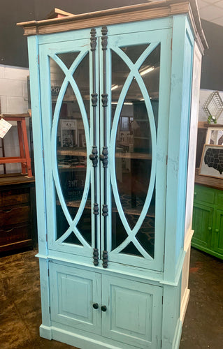 Cameo Turquoise Display Cabinet