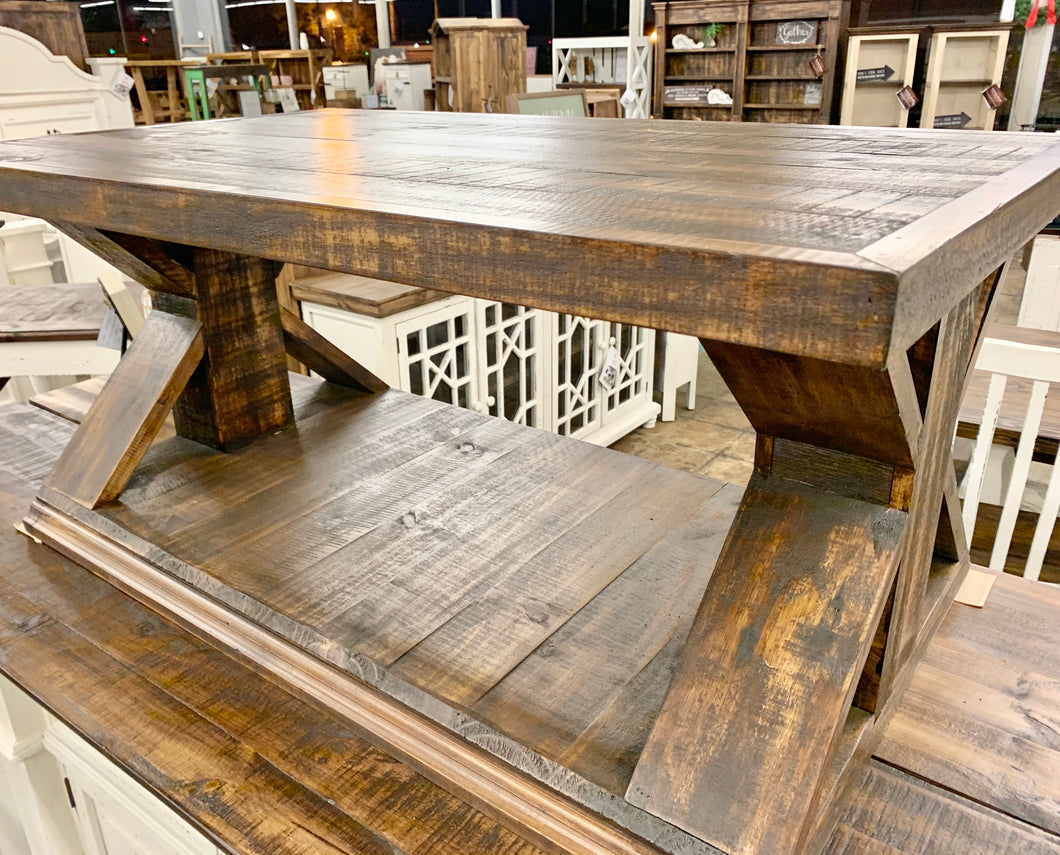 Carson Tobacco Brown Coffee Table