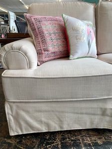 Slipcovered Sofa and Love Seat Set