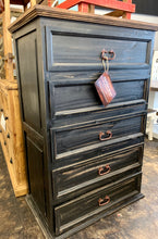 Load image into Gallery viewer, Chloe Antique Black Chest
