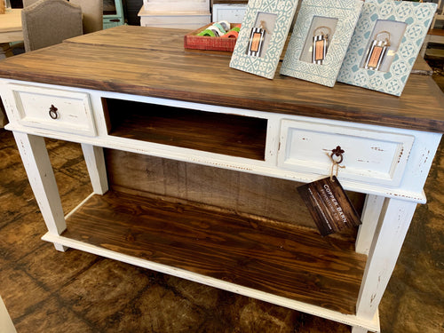 Emily White Console Table
