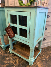 Load image into Gallery viewer, Faith Turquoise Accent Cabinet