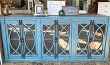 Load image into Gallery viewer, Cameo Agave Blue Large Console Cabinet