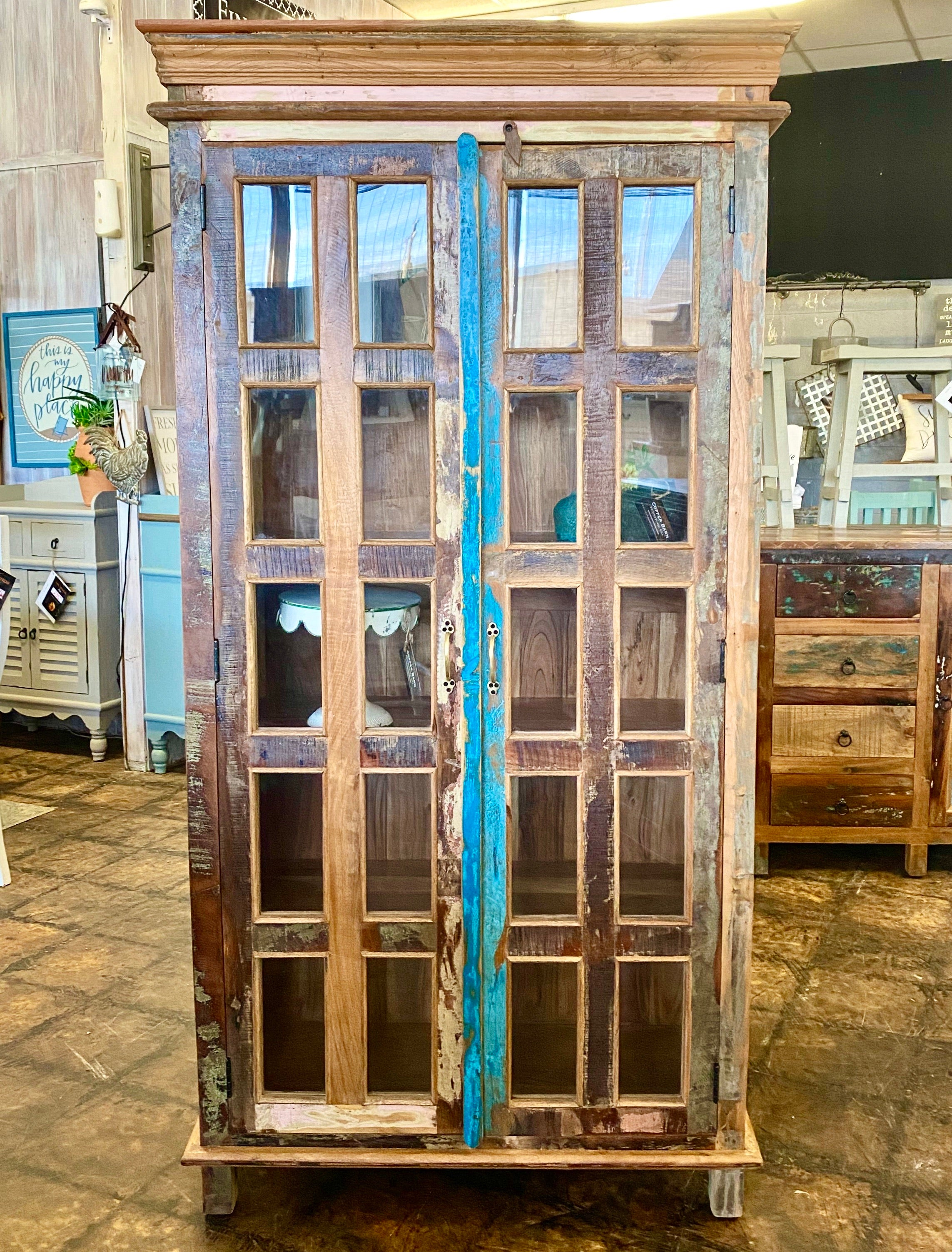 Harper Reclaimed Display Cabinet
