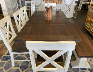 Aaron White & Tobacco 7 piece Table Set