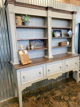 Load image into Gallery viewer, Maddox Gray 2 Piece Hutch