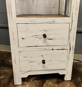 White Blythe Narrow Bookcase