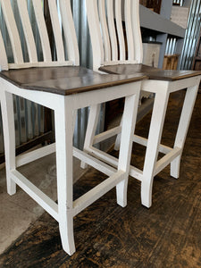 Banks White Barstools (pair of 2)