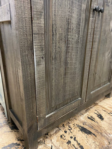 Parker Dark Weathered Gray Storage Cabinet