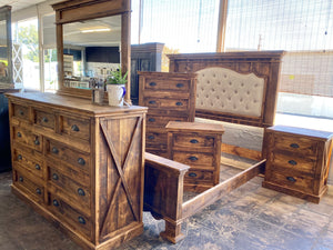 Sofia Rustic Honey King Bedroom Set