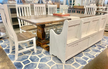 Load image into Gallery viewer, Banks 8 foot Antique White Dining Table Set