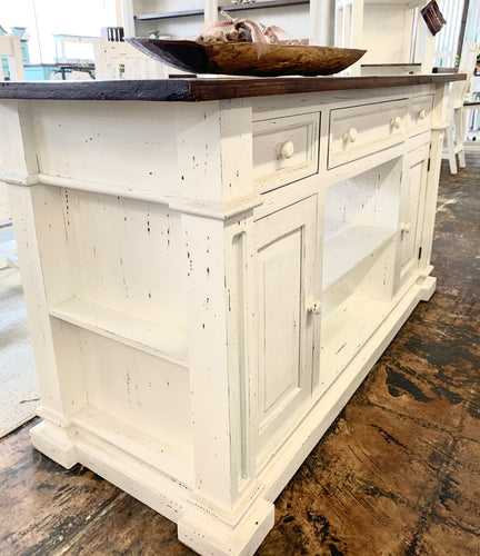 Hart White Kitchen Island