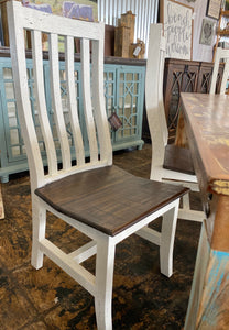 Claire Reclaimed & White 7 piece Dining Table Set