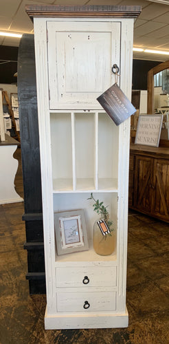 Conner White Narrow Storage Cabinet