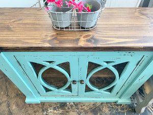 Cameo Turquoise Small Cabinet