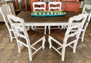 Madeleine Weathered White 7 Piece Dining Table Set