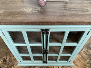 Hampton Beach Blue Accent Cabinet