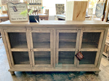 Load image into Gallery viewer, Carson Barn Gray Wire Front Cabinet