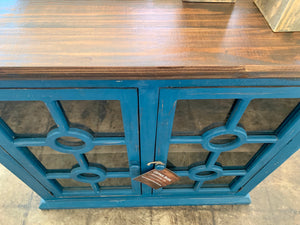 Daniel Small Dark Blue Accent Cabinet