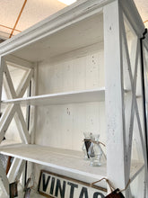 Load image into Gallery viewer, Whitney Distressed White Bookshelf