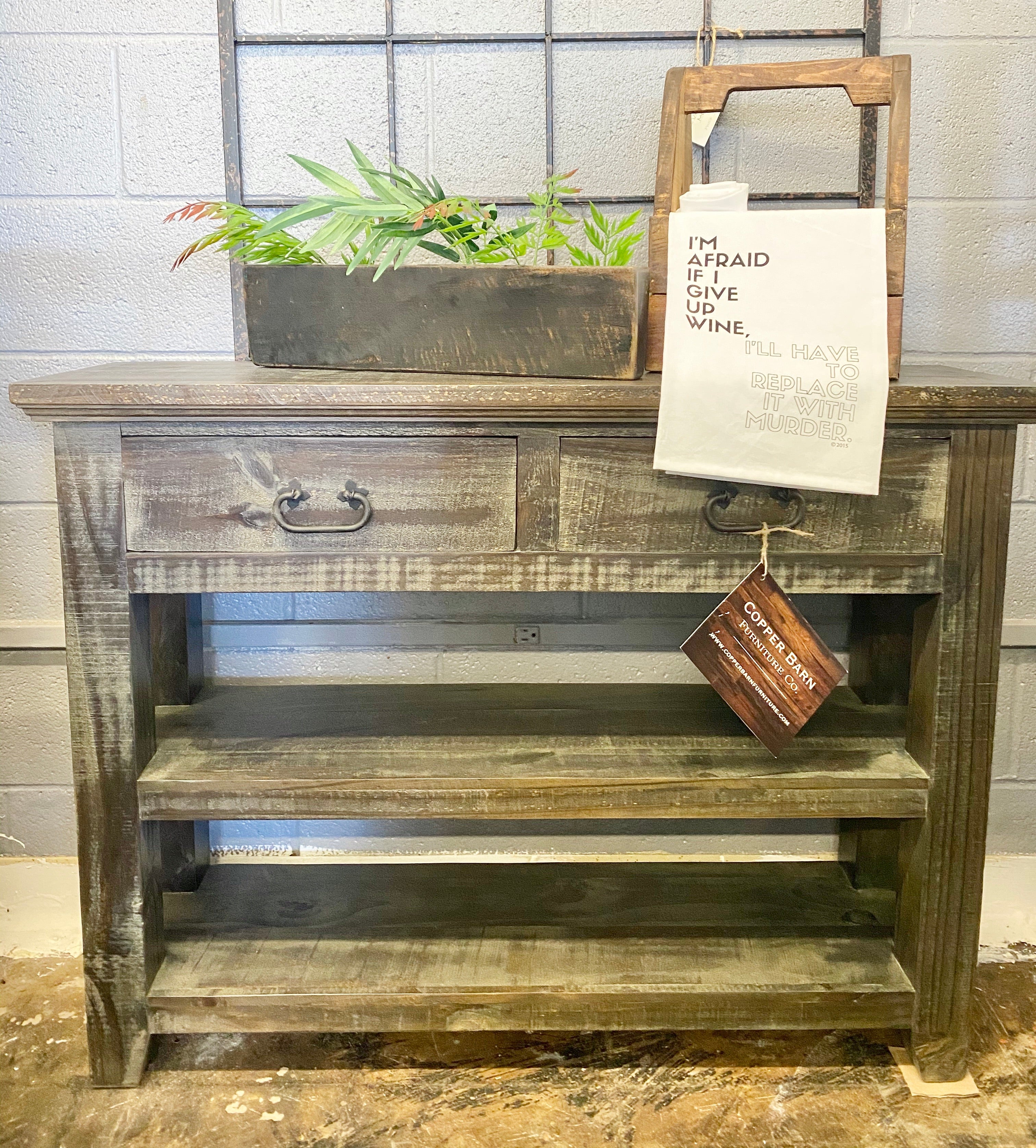 Cameron Dark Weathered Accent Table