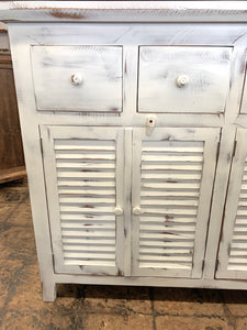 Shutter white washed Console Cabinet