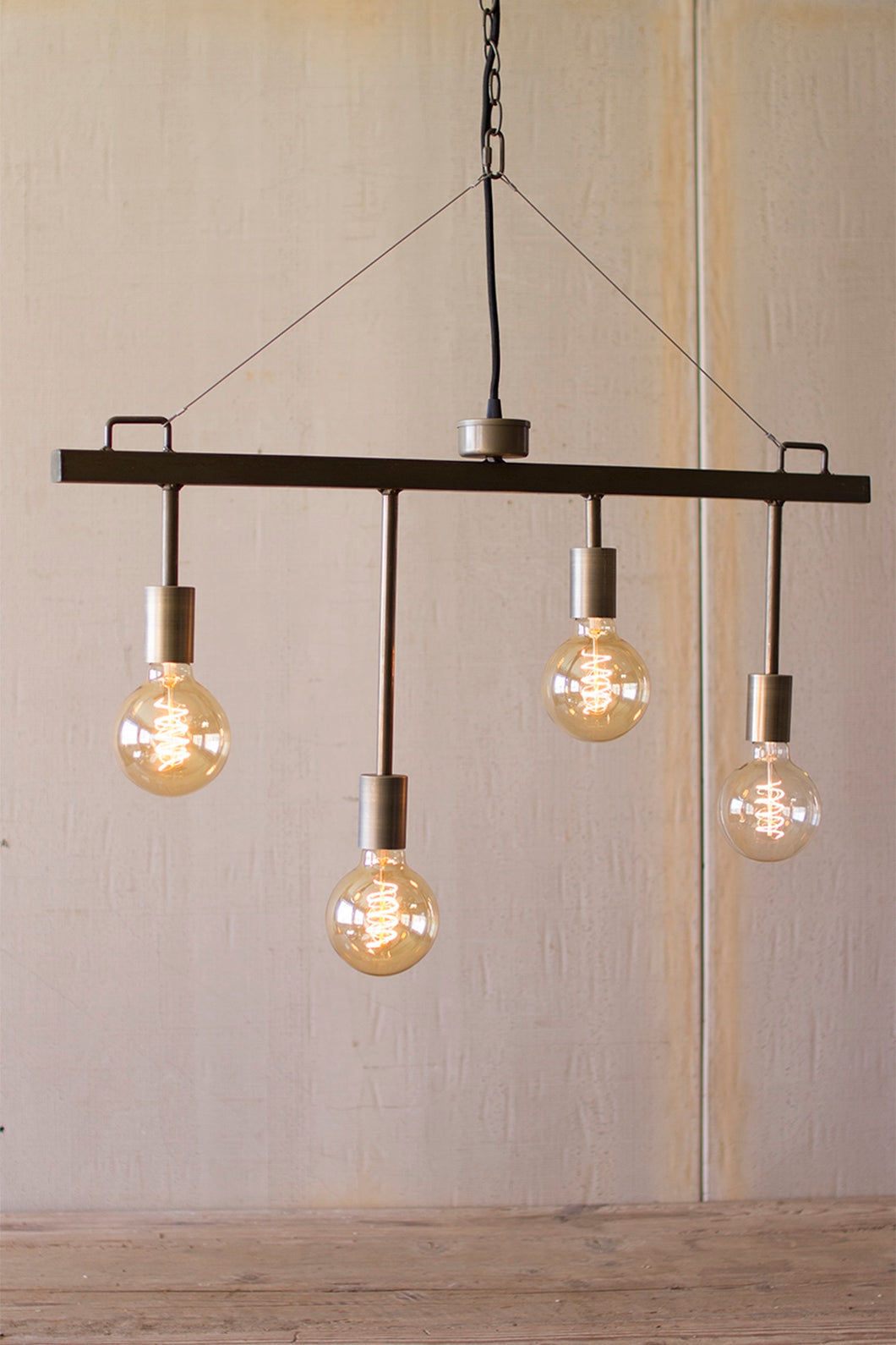 Raw Metal Pendant Light