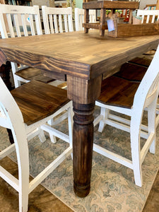Faye 7 foot Counter Height Dining Table Set