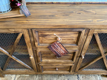 Load image into Gallery viewer, Logan Warm Rustic Brown Farmhouse Cabinet
