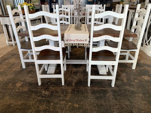 Mallory White 7 piece Table Set