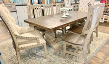 Load image into Gallery viewer, Herringbone Deconstructed 9 piece Dining Table Set
