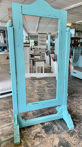 Chloe Turquoise Standing Mirror