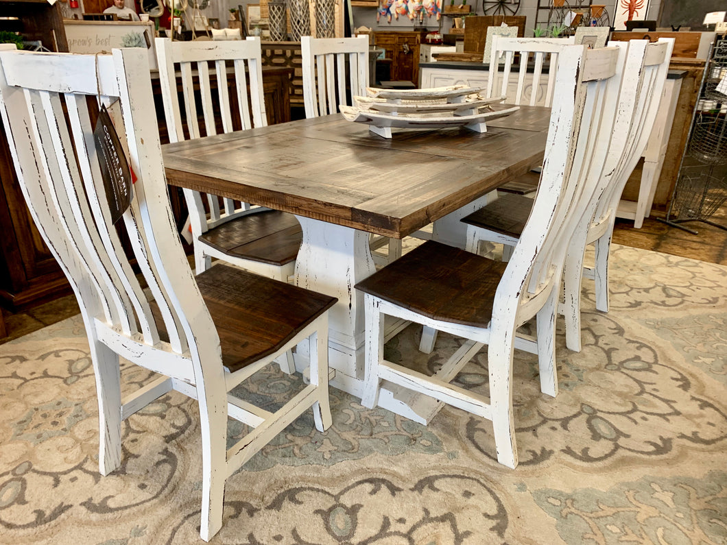 7 piece Farmhouse Table Set