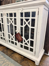 Load image into Gallery viewer, Livingston Distressed White Large Cabinet